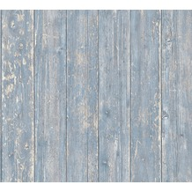 AS Création Vliestapete Authentic Walls 2 Tapete in Vintage Holz Optik blau beige 365732 10,05 m x 0,53 m
