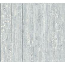 AS Création Vliestapete Authentic Walls 2 Tapete in Vintage Holz Optik grau blau beige 365733 10,05 m x 0,53 m