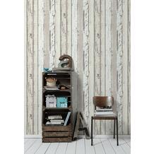 AS Création Vliestapete Authentic Walls 2 Tapete in Vintage Holz Optik grau weiß 302583 10,05 m x 0,53 m