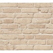 AS Création Vliestapete Best of Wood'n Stone 2nd Edition Tapete in Backstein Optik beige 355812 10,05 m x 0,53 m