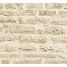 AS Création Vliestapete Best of Wood'n Stone 2nd Edition beige creme 355802 10,05 m x 0,53 m