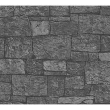 AS Création Vliestapete Best of Wood'n Stone 2nd Edition grau schwarz 319942 10,05 m x 0,53 m