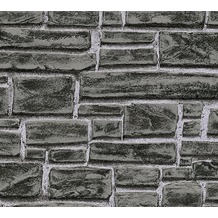 AS Création Vliestapete Best of Wood'n Stone 2nd Edition grau schwarz 662330 10,05 m x 0,53 m