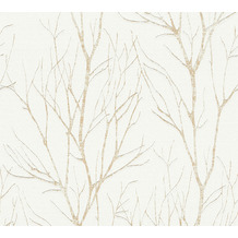 AS Création Vliestapete Blooming Tapete Ast Optik creme beige metallic 372603 10,05 m x 0,53 m