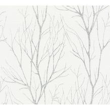 AS Création Vliestapete Blooming Tapete Ast Optik grau beige 372602