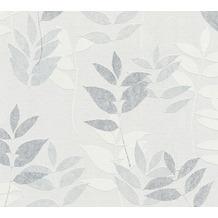 AS Création Vliestapete Blooming Tapete floral grau weiß 372614