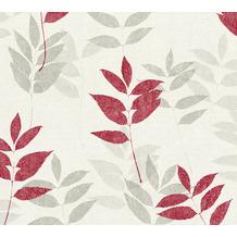 AS Création Vliestapete Blooming Tapete floral weiß grau beige 372613 10,05 m x 0,53 m
