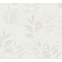 AS Création Vliestapete Blooming Tapete floral weiß grau beige 372611 10,05 m x 0,53 m