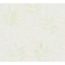 AS Création Vliestapete Blooming Tapete floral weiß grün grau 372612 10,05 m x 0,53 m