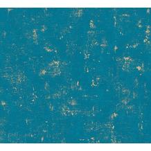 AS Création Vliestapete Blooming Tapete in Vintage Optik blau grün metallic 230768 10,05 m x 0,53 m