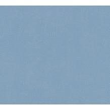 AS Création Vliestapete Blooming Tapete Uni blau 372626 10,05 m x 0,53 m