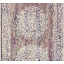 AS Création Vliestapete Boho Love Tapete im Ethno Look beige rot weiß 364621 10,05 m x 0,53 m