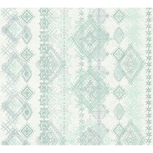 AS Création Vliestapete Boho Love Tapete im Ethno Look blau grün grau 364661 10,05 m x 0,53 m