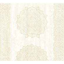 AS Création Vliestapete Boho Love Tapete im Ethno Look metallic creme beige 364622 10,05 m x 0,53 m
