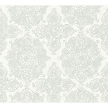 AS Création Vliestapete Boho Love Tapete im Ethno Look metallic grau weiß 364631 10,05 m x 0,53 m