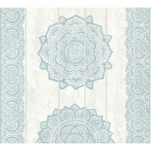 AS Création Vliestapete Boho Love Tapete im Ethno Look weiß grau blau 364624 10,05 m x 0,53 m