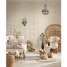 AS Création Vliestapete Boho Love Tapete in Vintage Holz Optik creme beige grau 10,05 m x 0,53 m