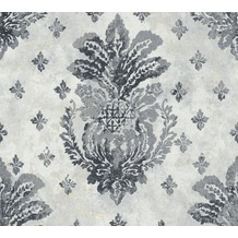 AS Création Vliestapete Boho Love Tapete mit Vintage Ornamenten metallic grau schwarz 364563 10,05 m x 0,53 m