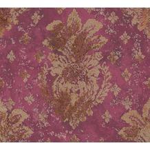AS Création Vliestapete Boho Love Tapete mit Vintage Ornamenten metallic rot 364564