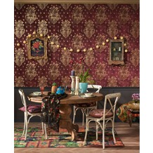 AS Création Vliestapete Boho Love Tapete mit Vintage Ornamenten metallic rot 10,05 m x 0,53 m