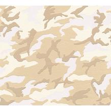 AS Création Vliestapete Boys & Girls 6 Tapete mit Camouflage Muster beige braun weiß 369420 10,05 m x 0,53 m