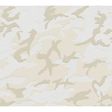 AS Création Vliestapete Boys & Girls 6 Tapete mit Camouflage Muster creme grau weiß 369413
