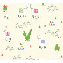 AS Création Vliestapete Boys & Girls 6 Tapete mit Lamas beige creme 369851