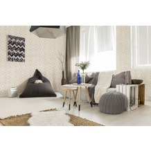 AS Création Vliestapete California Tapete im Ethno Look beige creme grau 10,05 m x 0,53 m