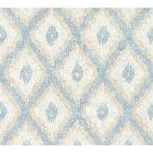 AS Création Vliestapete California Tapete im Ethno Look braun creme blau 363763 10,05 m x 0,53 m