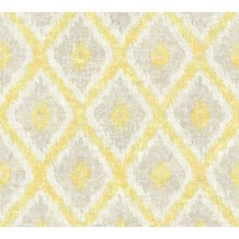 AS Création Vliestapete California Tapete im Ethno Look braun creme gelb 363761 10,05 m x 0,53 m