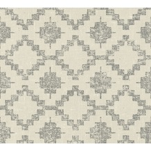 AS Création Vliestapete California Tapete im Ethno Look braun schwarz 363752 10,05 m x 0,53 m
