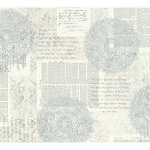 AS Création Vliestapete Character Tapete im Ethno Look blau grau weiß 367752 10,05 m x 0,53 m