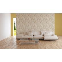 AS Création Vliestapete Character Tapete mit Rosen floral beige creme grau 10,05 m x 0,53 m
