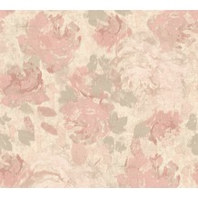 AS Création Vliestapete Character Tapete mit Rosen floral beige creme rosa 367724 10,05 m x 0,53 m