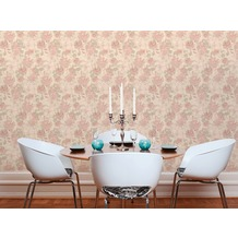 AS Création Vliestapete Character Tapete mit Rosen floral beige creme rosa 10,05 m x 0,53 m