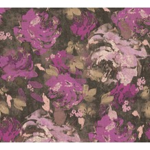 AS Création Vliestapete Character Tapete mit Rosen floral braun rosa lila 367725 10,05 m x 0,53 m