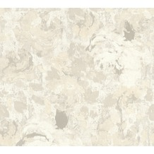 AS Création Vliestapete Character Tapete mit Rosen floral creme grau weiß 367722 10,05 m x 0,53 m