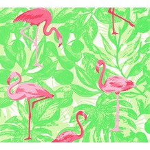 AS Création Vliestapete Club Tropicana Tapete Flamingos grün rosa rot 359802 10,05 m x 0,53 m