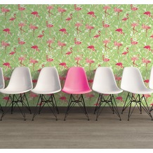 AS Création Vliestapete Club Tropicana Tapete Flamingos grün rosa rot 10,05 m x 0,53 m