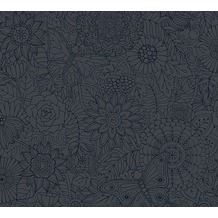 AS Création Vliestapete Club Tropicana Tapete metallic schwarz 358162 10,05 m x 0,53 m