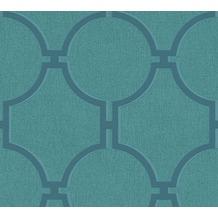 AS Création Vliestapete Elegance 5th Avenue Tapete blau grün 361496 10,05 m x 0,53 m