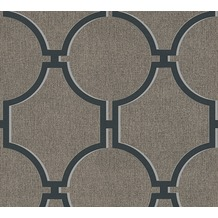 AS Création Vliestapete Elegance 5th Avenue Tapete braun schwarz grau 361495 10,05 m x 0,53 m