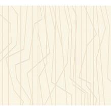 AS Création Vliestapete Emotion Graphic Tapete gestreift grafisch creme 368781 10,05 m x 0,53 m