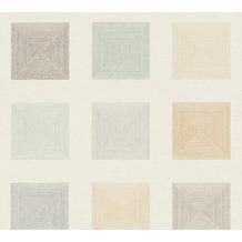 AS Création Vliestapete Ethnic Origin Tapete geometrisch grafisch grün creme braun 371722 10,05 m x 0,53 m