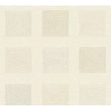 AS Création Vliestapete Ethnic Origin Tapete geometrisch grafisch metallic creme 371723