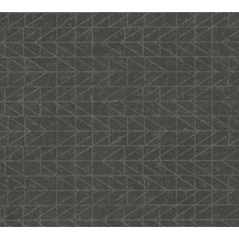AS Création Vliestapete Ethnic Origin Tapete geometrisch grafisch metallic schwarz 371741 10,05 m x 0,53 m