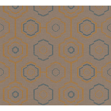 AS Création Vliestapete Ethnic Origin Tapete geometrisch grafisch orange blau braun 371773