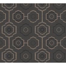 AS Création Vliestapete Ethnic Origin Tapete geometrisch grafisch schwarz metallic 371774