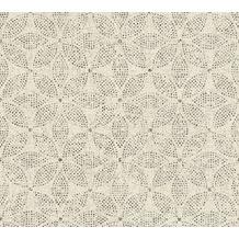 AS Création Vliestapete Ethnic Origin Tapete im Ethno Look creme schwarz 371765 10,05 m x 0,53 m