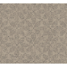 AS Création Vliestapete Ethnic Origin Tapete im Ethno Look grau beige schwarz 371764 10,05 m x 0,53 m